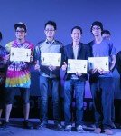 Winners of 2014 Short Film Competition, from left to right: Lee, Khampa, Nirankoon, Yupalad